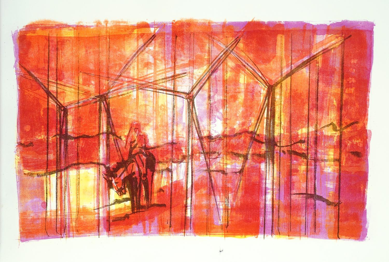 13 'Fighting Windmills' litho