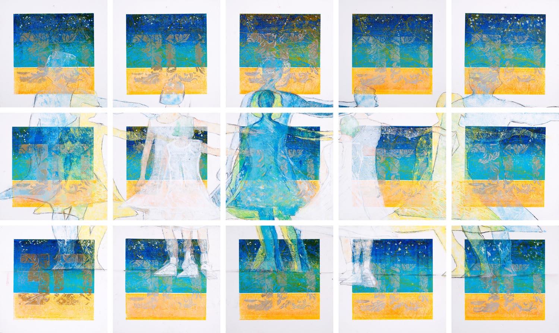 1 'Collage' monoprint